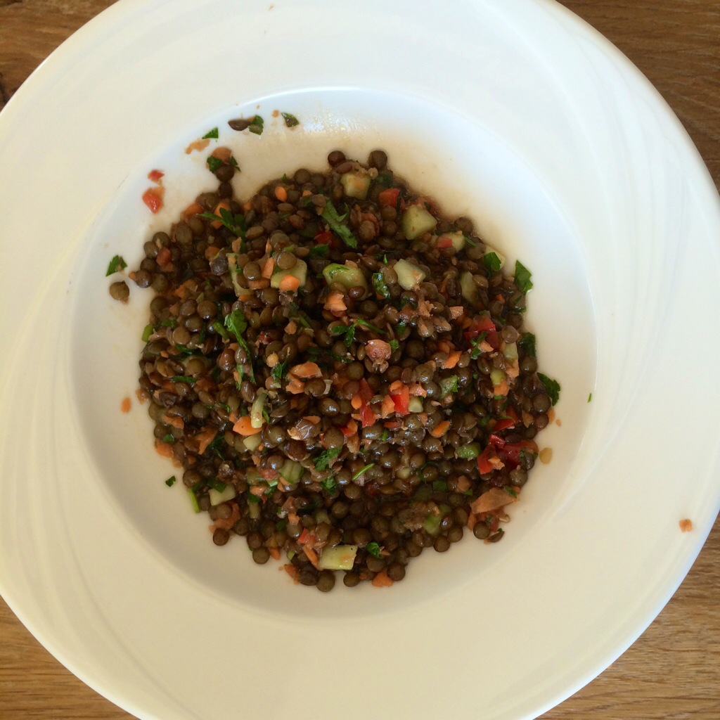 Super simple summer lentil salad