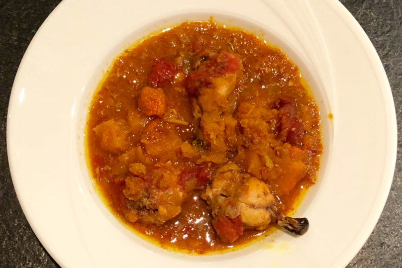 Butternut & chicken curried stew